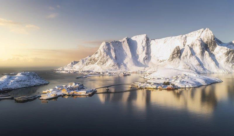 hamnoy , reine, lofoten islands, norway, morning, лофтены, норвегия, рейне, рассвет Рассвет на Лофотенахphoto preview