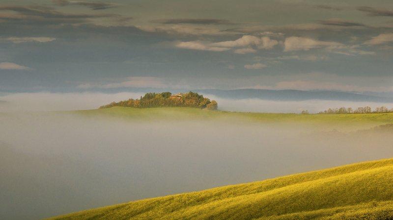tuscany, тоскана, путешествие по тоскане, fog,morning, tuscany photos landscape, весенняя тоскана, туманы тосканы, пейзажи тосканы, tuscany landscape photography Туманы Тосканыphoto preview
