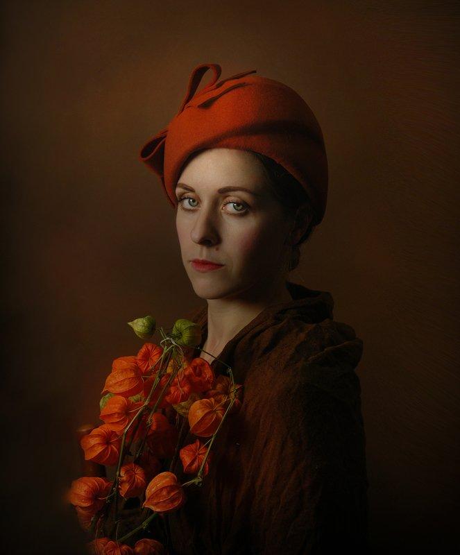 Портрет в осенних тонахphoto preview
