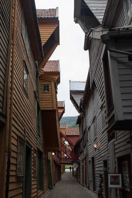 Берген, город, улица, деревянные дома, средневековье Бергенphoto preview