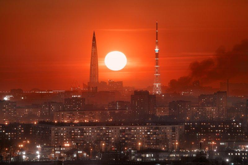 Санкт-петербург Багровый закатphoto preview