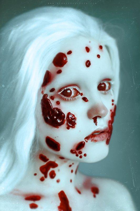 horror, dark, art photo, girl, portrait, russian horror К р о в а в ы й   з у бphoto preview