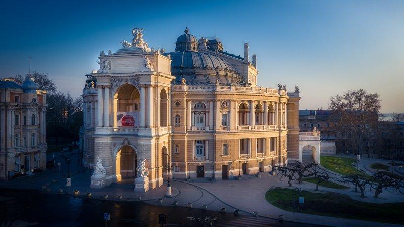 odessa, building, opera, sunrise, morning, city, город, одесса, опера, архитектура Odessa Opera Housephoto preview
