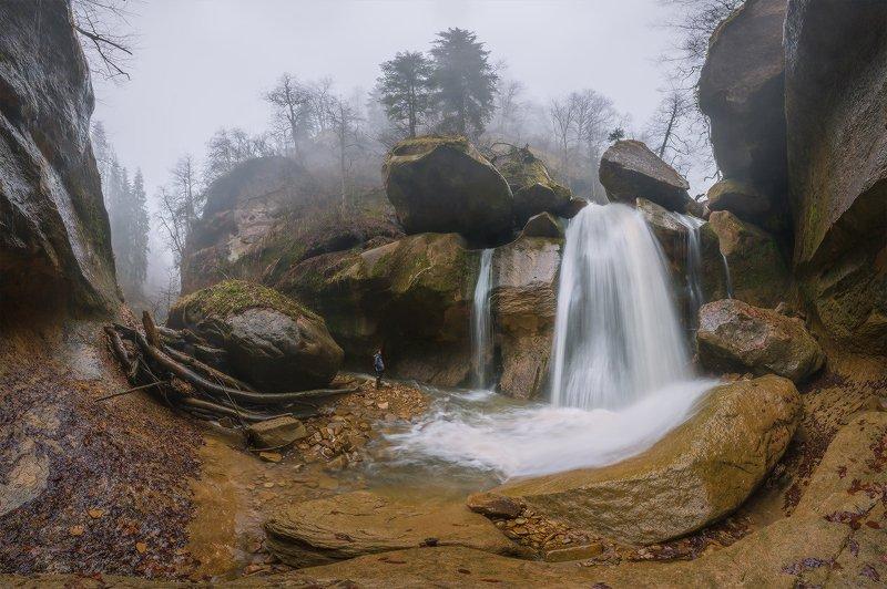 северный кавказ солёное река  кызыл-бек водопад затерянный весна апрель Кызыл-Бек. Водопад Затерянныйphoto preview