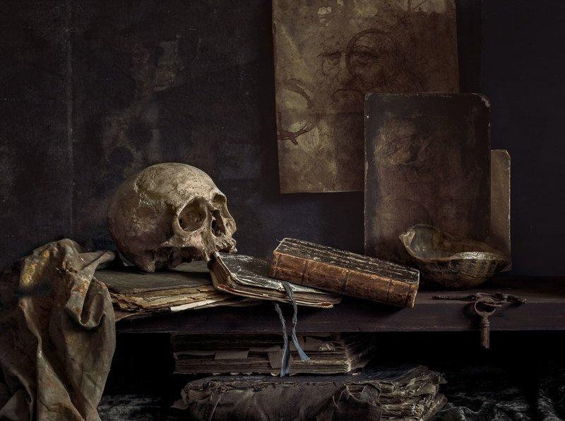 натюрморт, still life, vanitas, book, old book, still life with old books, evgeny kornienko Vanitasphoto preview