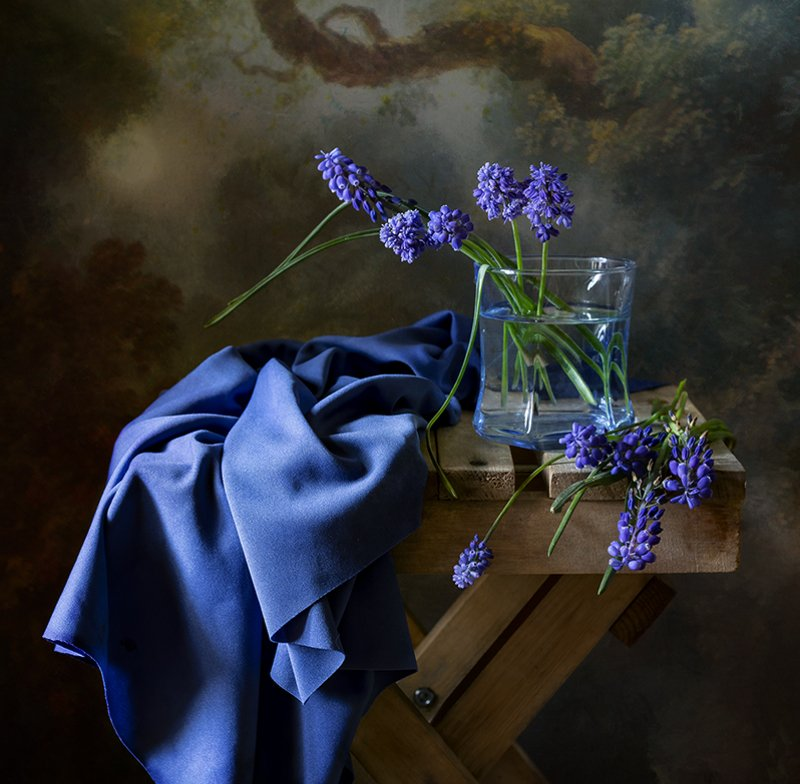 натюрморт, цветы, still life Мускарикиphoto preview