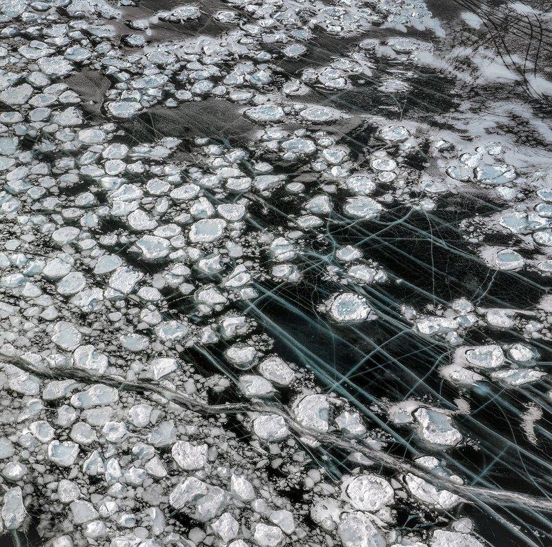 россия, природа россии, природа, пейзаж, зима, байкал, трещины, путешествие Ледphoto preview