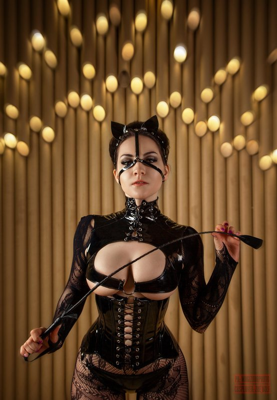 девушка, girl, erotic,black,leather,mistress Catwomanphoto preview