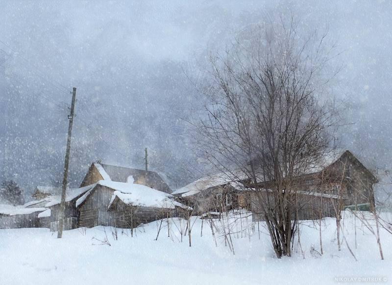 пейзаж медленный снег марта. д. Матигоры. 2019photo preview