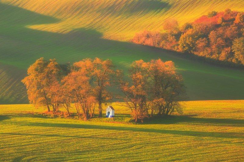 landscape,canon,mist,light,autumn,moravia St. Barbara\'s Chapelphoto preview