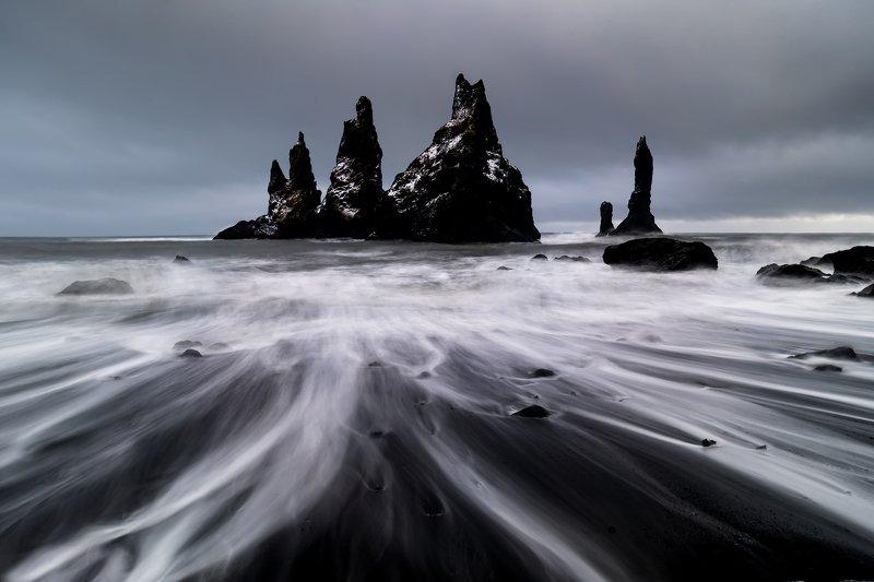 vik, исландия, шторм Затишьеphoto preview