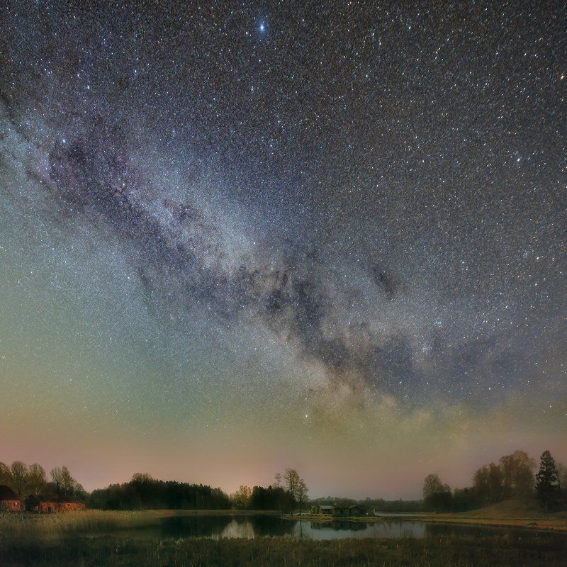 night, nightscape, milkyway, stars Araisi lake castlephoto preview