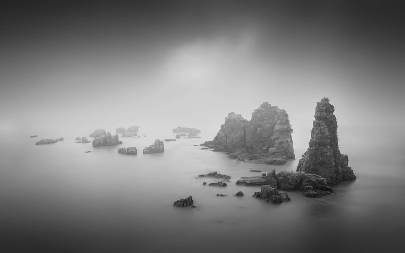 black & white,landscapes,reef,sea,travel,light and shadow,wenzhou,china Dream reefphoto preview