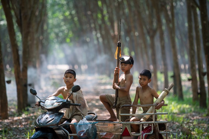 thai,thailand,life,portrait,photography,journalism,people,fishing,culture,children, The Boys in the rural Thailandphoto preview