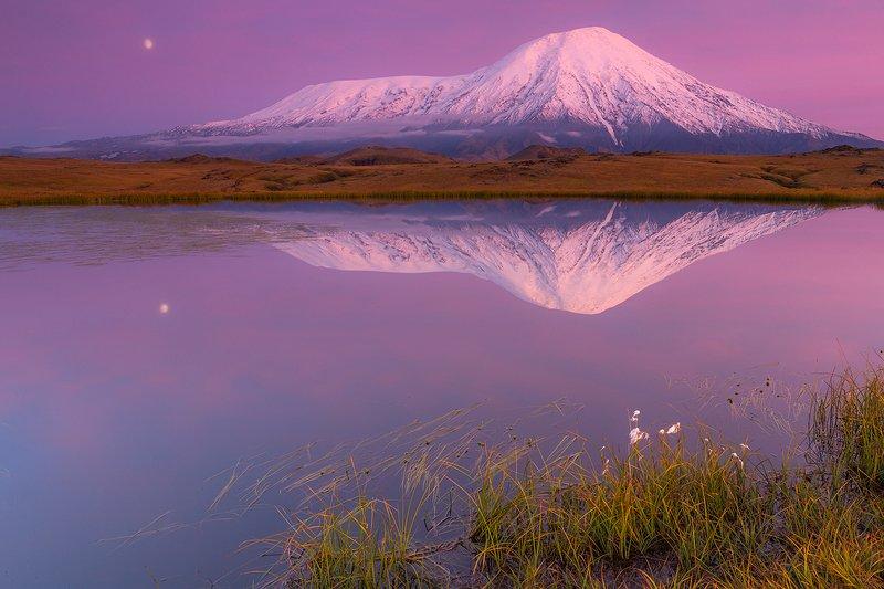 камчатка, пейзаж, осень, закат, природа, путешествие, фототур, озеро Вечерние краскиphoto preview
