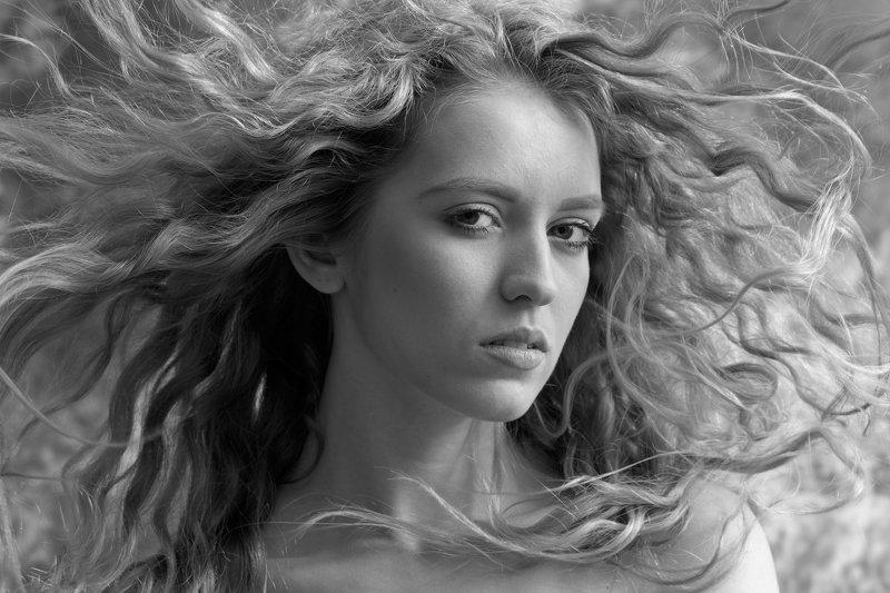портрет, девушка, волосы, красота,ч\\б,олег_грачёв, oleg_grachev,portrait,girl, beauty,russianbeauty,amazing,nice, Майя (4)photo preview