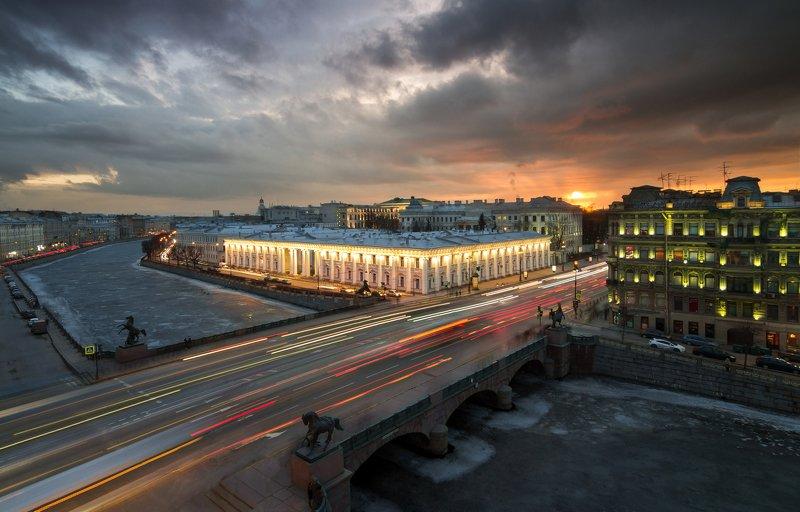 санкт-петербург, городской пейзаж, россия, russia Аничков мостphoto preview