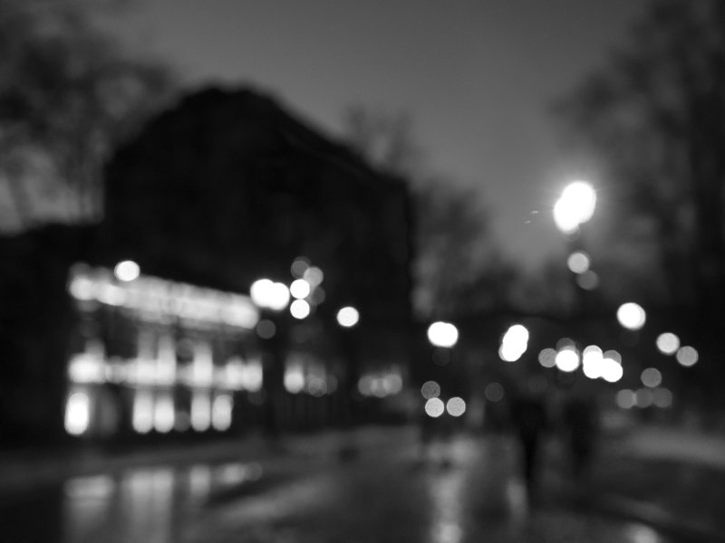 Black and white, Monochrome, Moscow, Russia, Bokeh The anticipation of springphoto preview