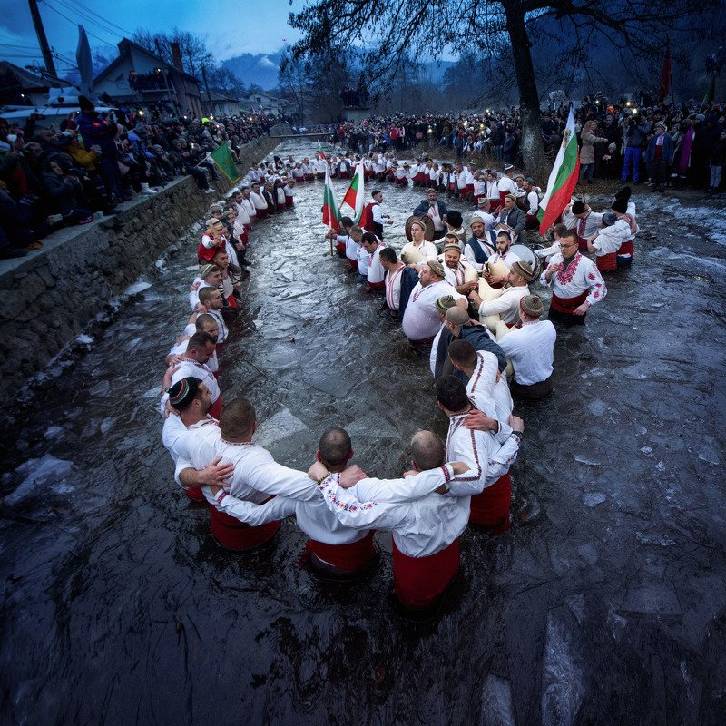 traditions, travel, bulgaria  Icy dancephoto preview
