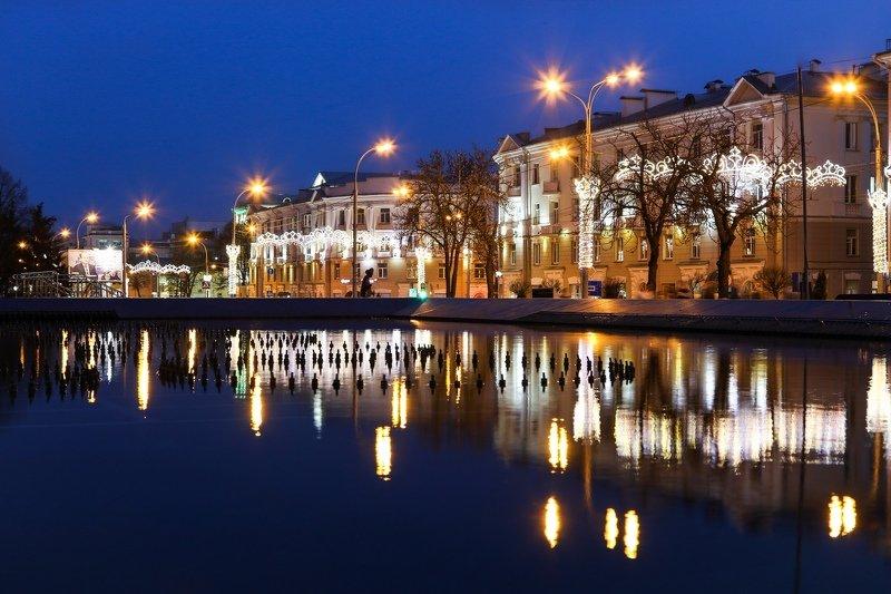 гомель, город, улица, вечер, отражение Вечерний Гомельphoto preview