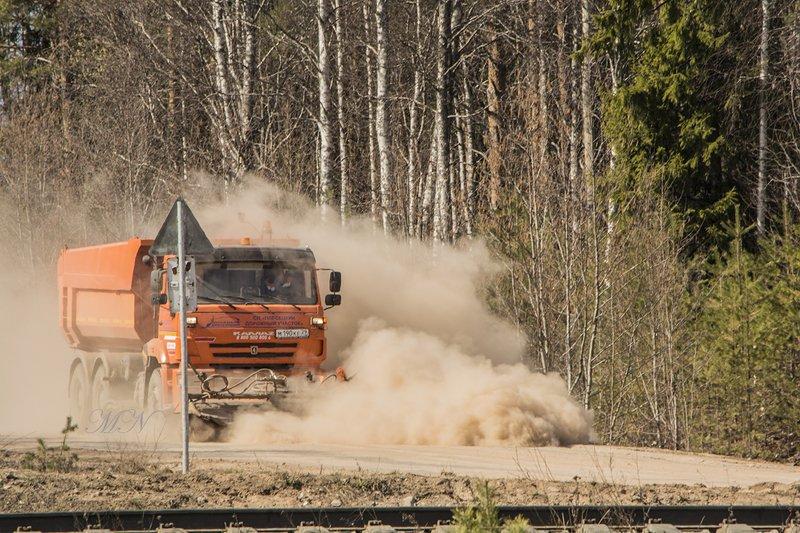 В облаке пыли.photo preview