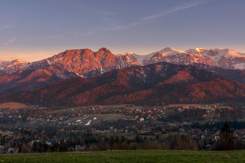 mountains,tatras,poland,sunset,landscape,evening,sky Tatra mountainsphoto preview