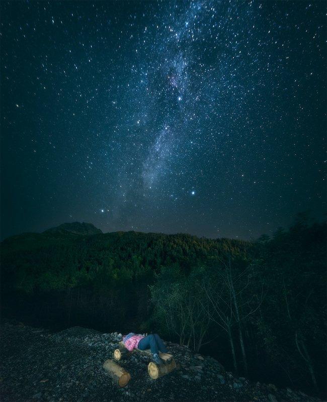 звёзды, домбай photo preview