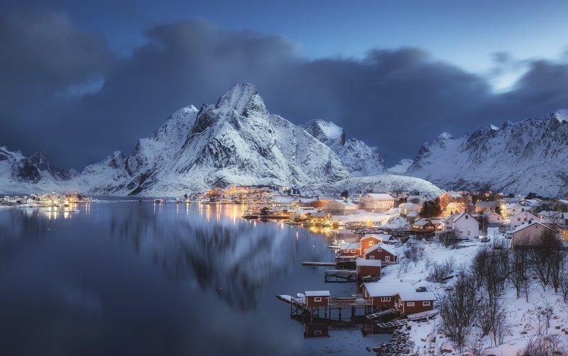 hamnoy , reine, lofoten islands, norway, morning, лофотены, норвегия, рейне Reinephoto preview