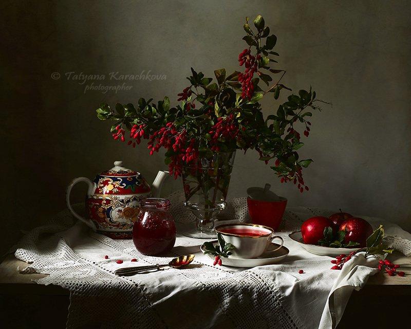 натюрморт, варенье, барбарис,чай, чаепитие, stll life, sillleben Варенье из барбарисаphoto preview