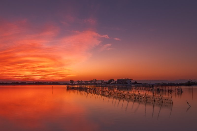 italy,venice,long exposure,evening,sunset,amazing color,water,house silent in artphoto preview