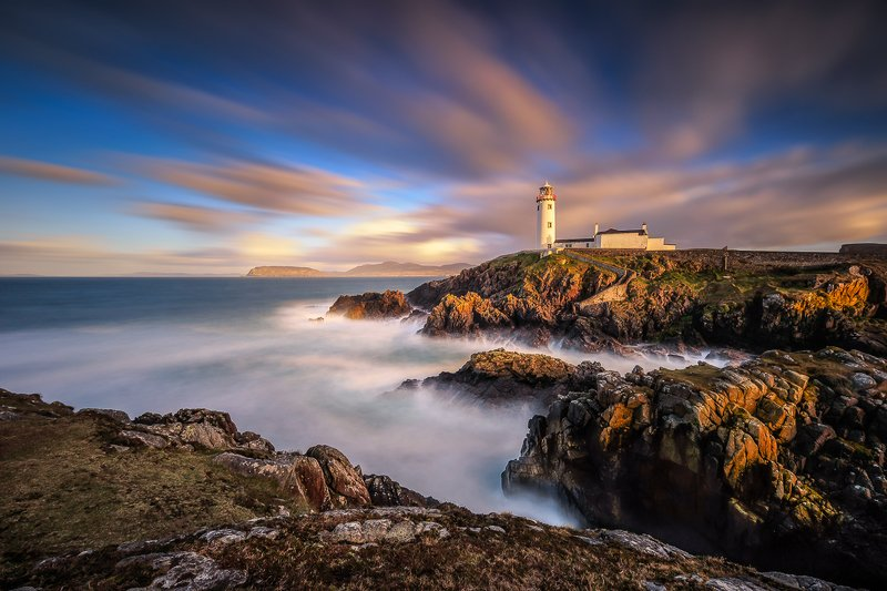 longexposure, sunrise, sunset, landscapes, seascapes, Ireland Fanad Head Lighthousephoto preview