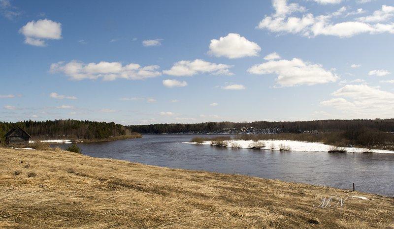 Река Онега у деревни Машалиха.photo preview