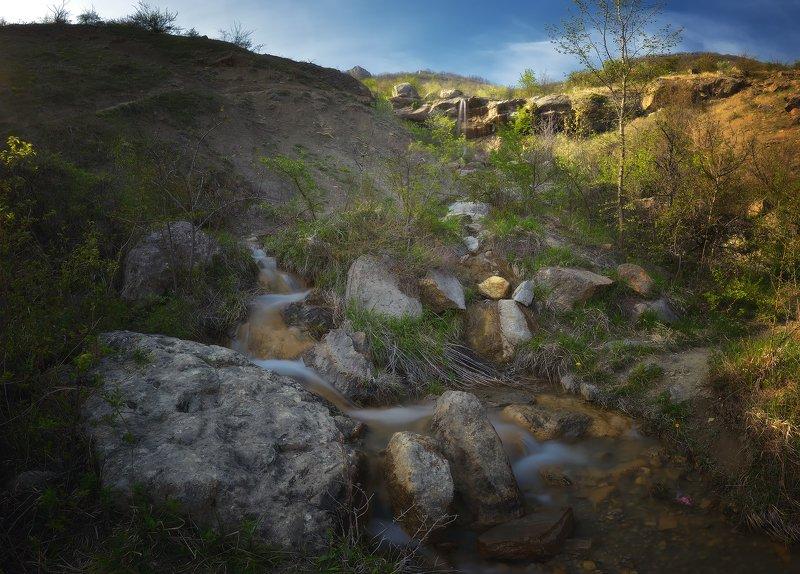 крым, природа, весна, горы, водопад Арпатский водопадphoto preview