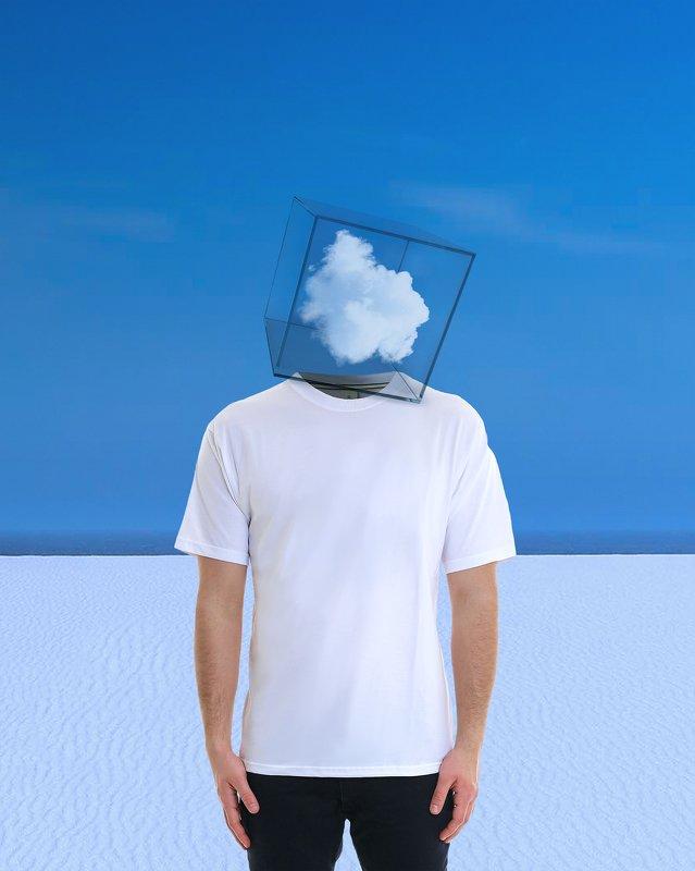 conceptual photography, conceptual, conceptualism, minimalism surreal, man cloudphoto preview