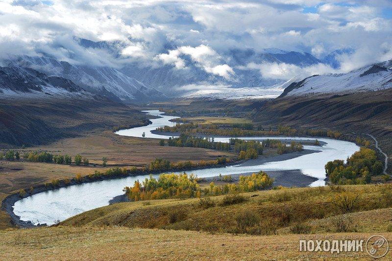 алтай, осень, пейзаж, фото-тур Утро на Катуниphoto preview