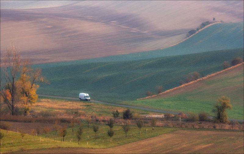 южная моравия,пейзаж,hils,автомобиль,линии,south moravian,lines,свет,czech,осень,чехия,landscapes \