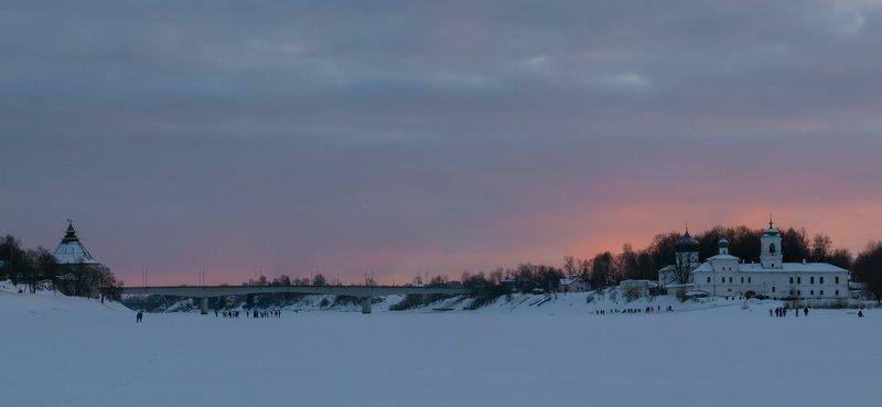 pskov, pleskau, псков, landscape, pskovregion, монастырь, sunset, закат, вечер, snow, frost, winter, зима, снег, мороз ...photo preview