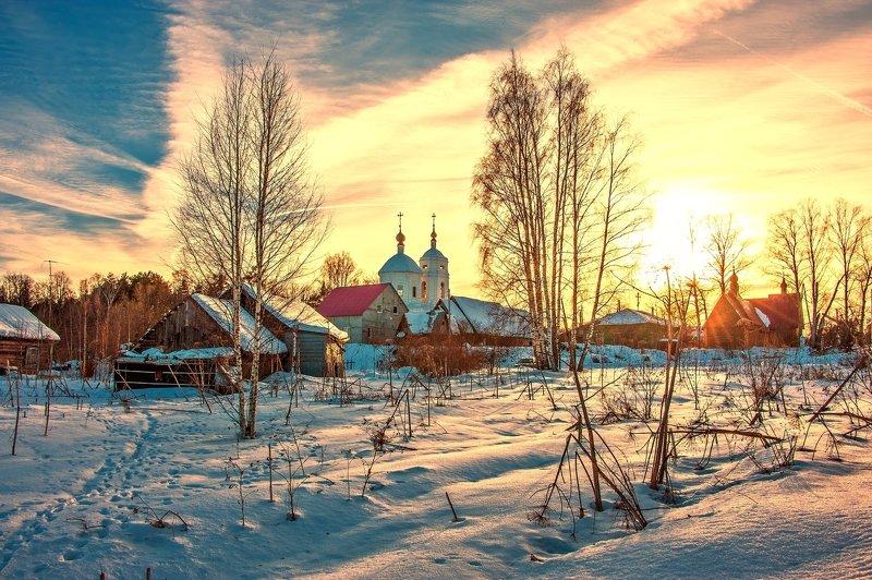 Бывают зимние чудесные рассветы.photo preview