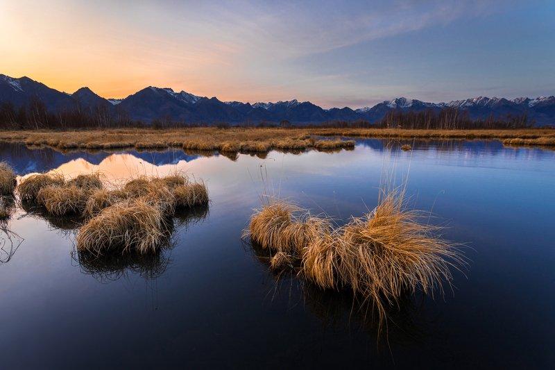 койморские, озёра, аршан, бурятия, тункинская, долина, сибирь, дальний , восток, закат Койморские озёра_2photo preview
