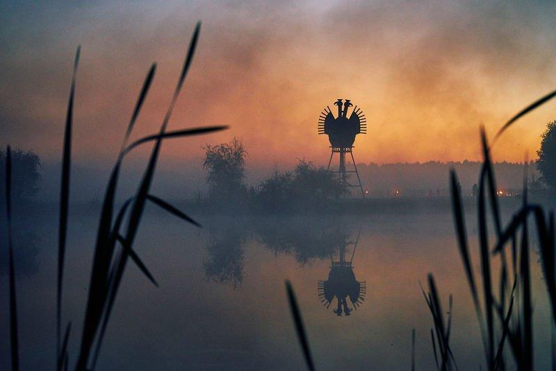 никола-ленивец, арт-объект, закат Улитка с жабрамиphoto preview