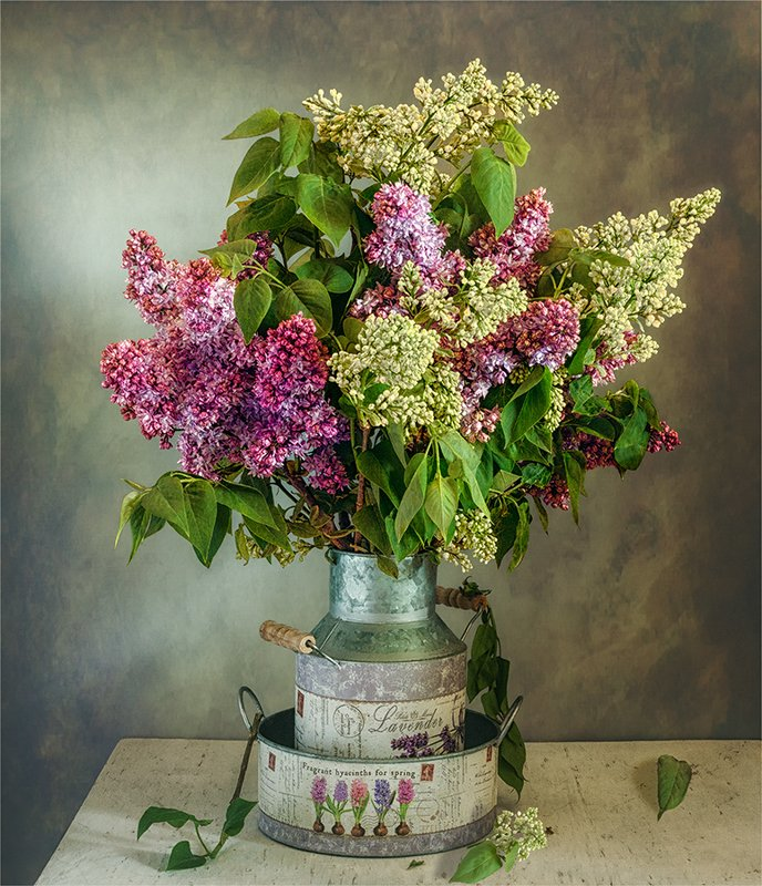 still life, натюрморт,    винтаж,    цветы,   сирень, букет, весна, аромат, натюрморт с букетом сирениphoto preview