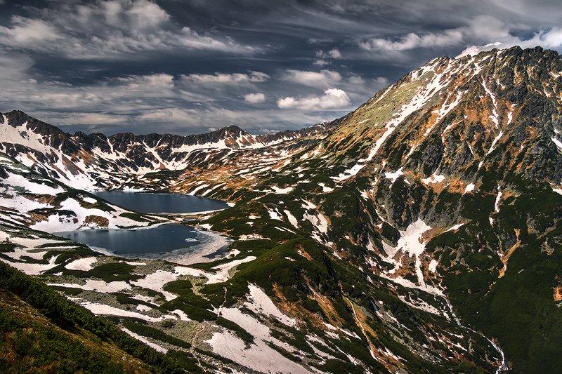 #spring #mountains #lake #trekking #snow Valley of five Pondsphoto preview