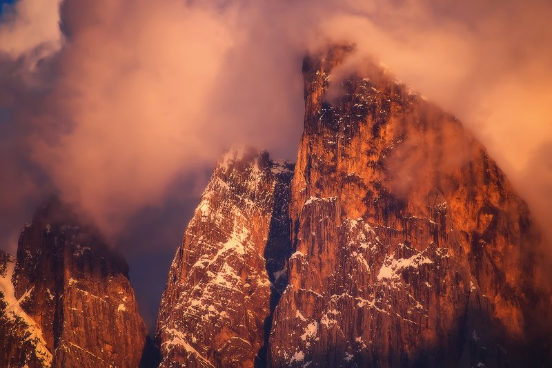 доломиты, горы, закат, dolomites, italy, sunset Dolomites in the sunsetphoto preview