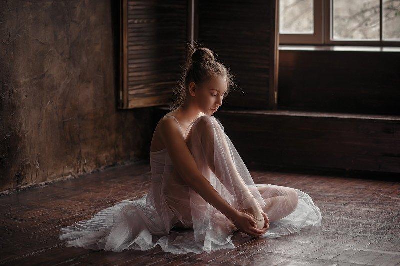 хореография, балет, девушка, юбка-пачка На репетицииphoto preview
