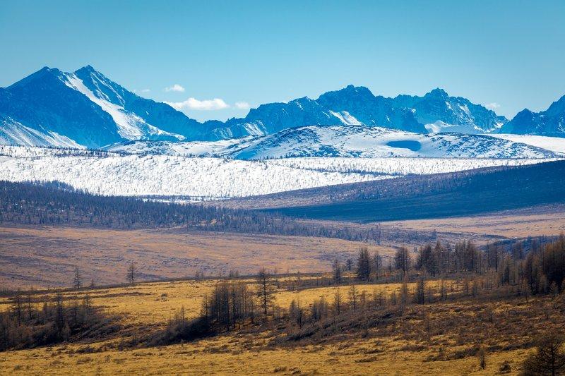 горный, пейзаж, бурятия, тункинская, долина, сибирь, дальний, восток, мунку-сардык Перспективаphoto preview