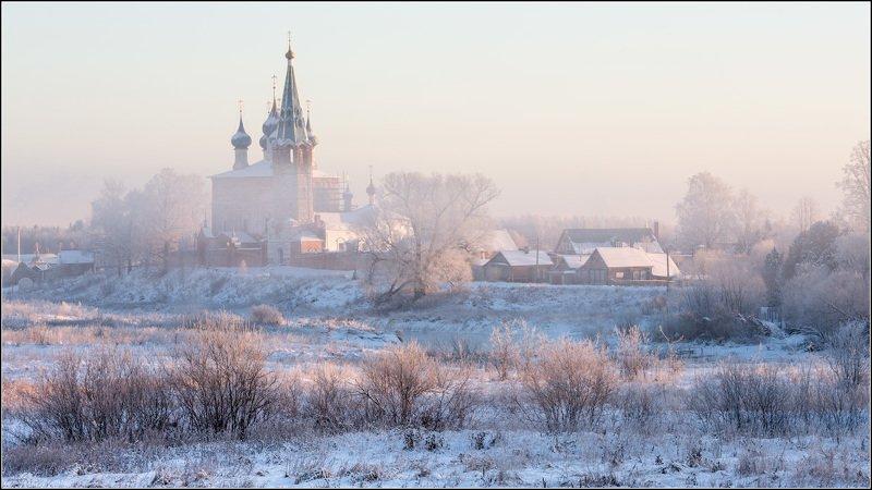 россия, ивановская обл, дунилово Туман густой едва растаялphoto preview