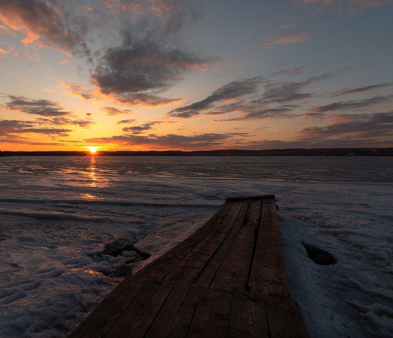 закат, природа, Вятка,Россия Первомайский закатphoto preview