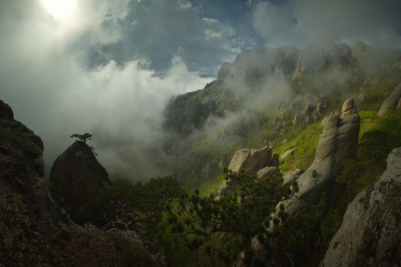 крым, природа, весна, горы, туман В гостях у привиденийphoto preview