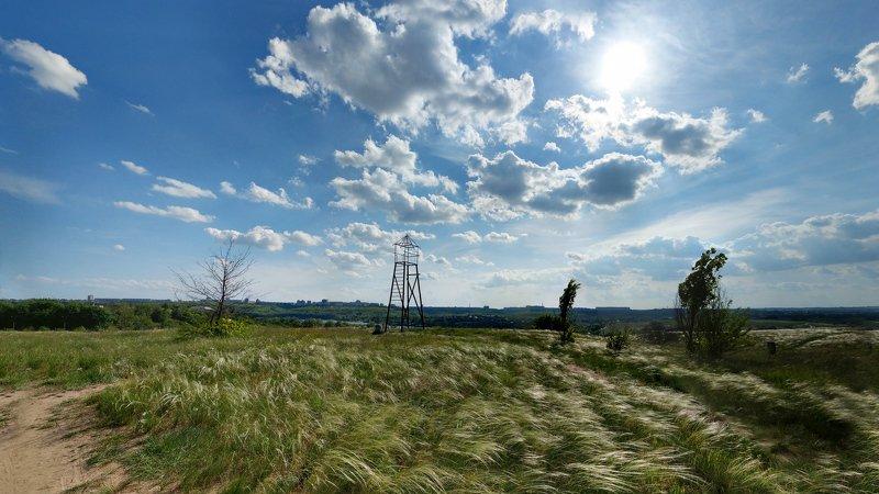 пейзаж,небо,хортица,весна,солнце Май!photo preview