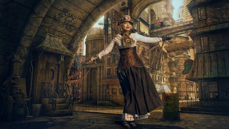 портрет, модель, steampunk, фото сессия, rekhov Steampunkphoto preview